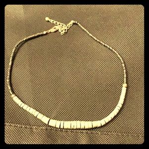 Black and silver lobster claw necklace